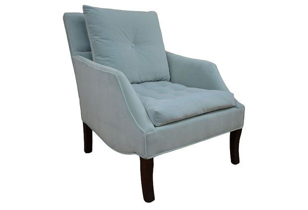Best Miley Tufted Chair Light Blue Accent Occasional Chairs 400 x 300