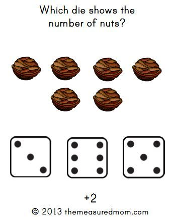 Free Fall Math Game for Preschool & Kindergarten: Nuts about Math ...