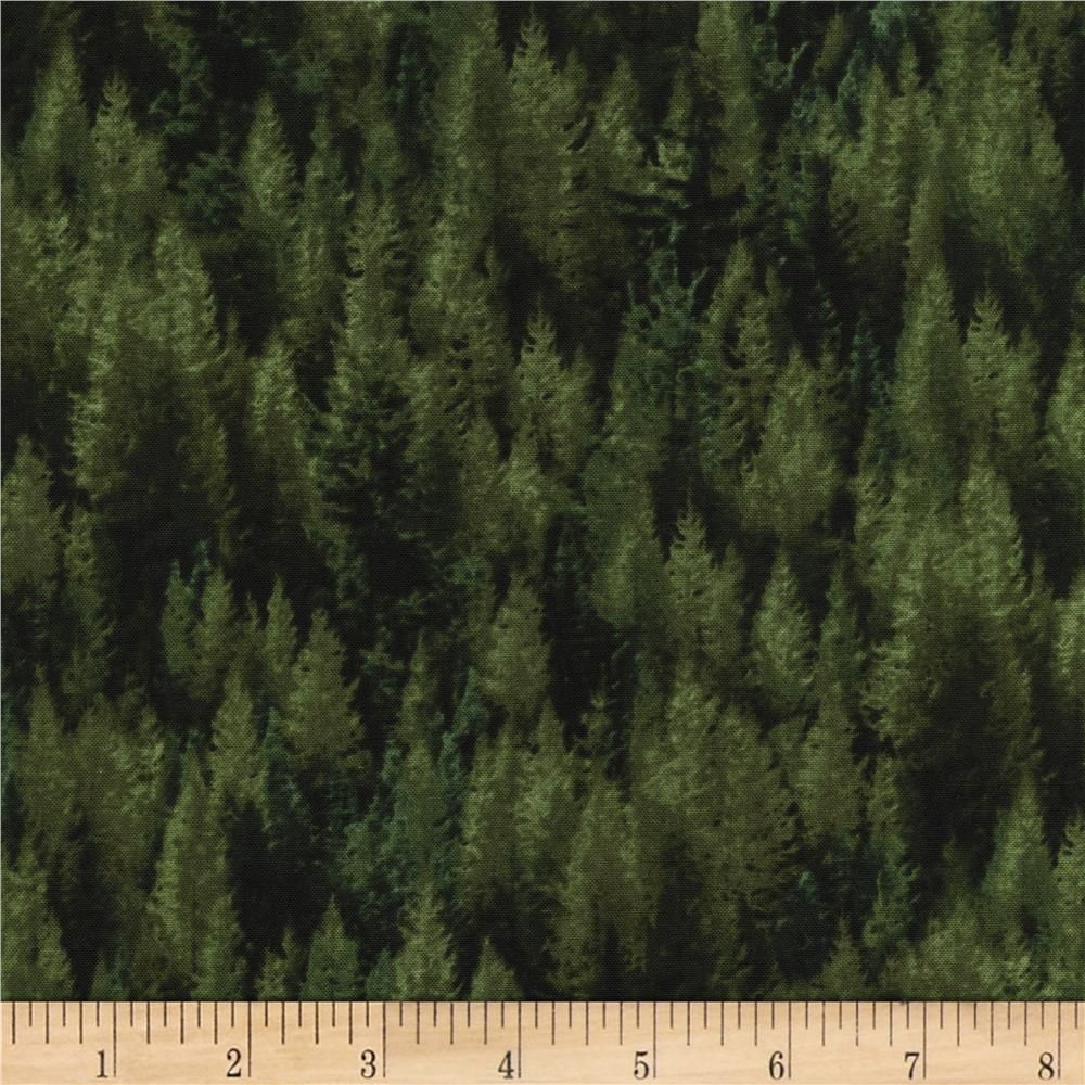 Timeless Treasures Judy Niemeyer's Reclaimed West Tamarack Trees Pine from @fabricdotcom  Designed by Judy Niemeyer for Timeless Treasures, this cotton print is perfect for quilting, apparel and home decor accents.  Colors include shades of black and shades of green.