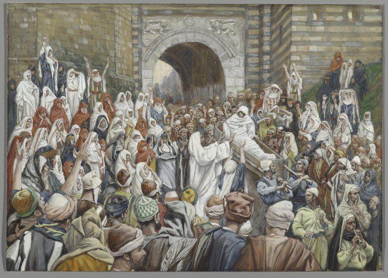 Miracles Of Jesus Resurrecting A Widows Son The Painting Resurrection At Nain Circa By James Tissot