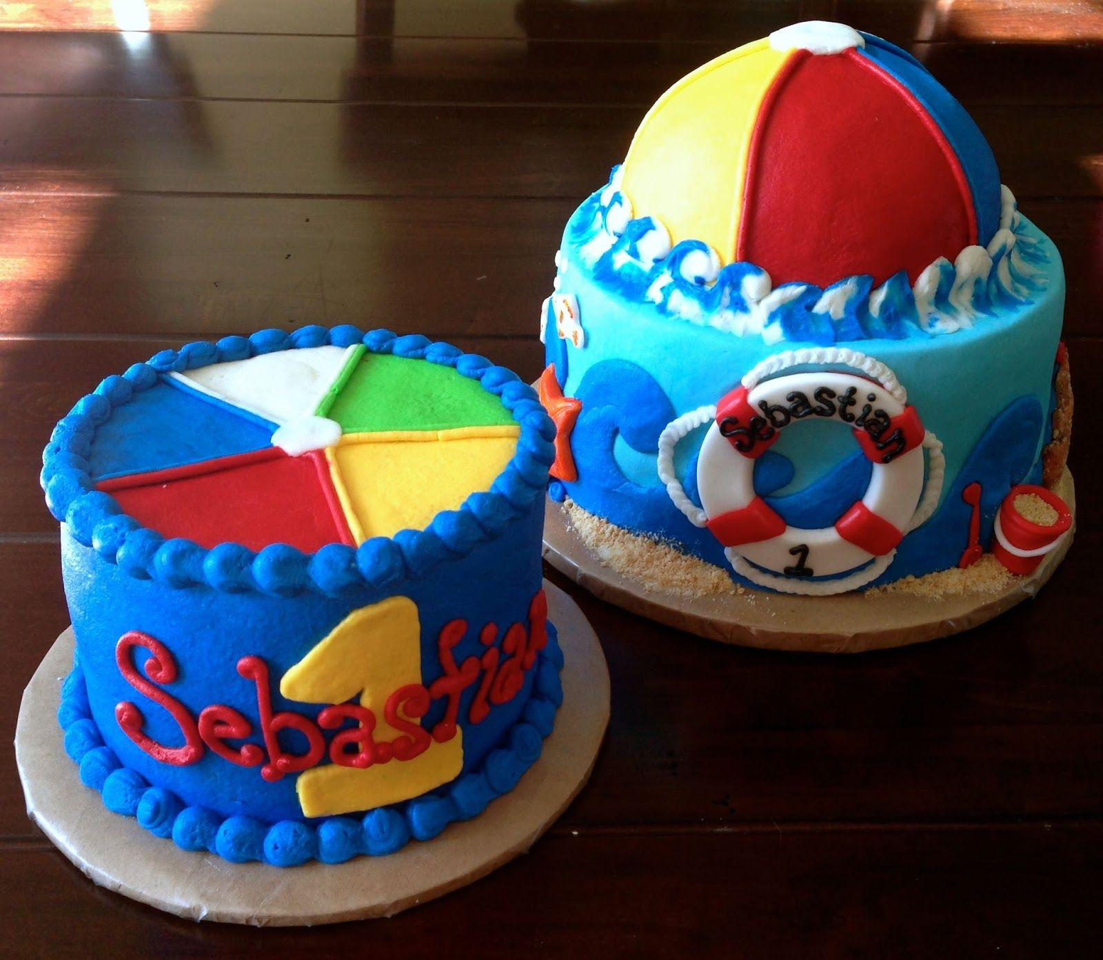 1st birthday OceanBeach Theme for Easton party Jenna