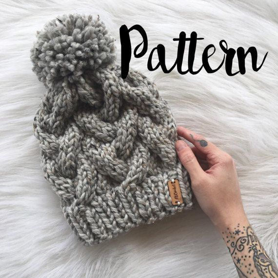 cc2b88986e5d65 KNIT PATTERN Braided Cable Beanie PDF File by ShopABCrochet Braid Patterns, Knitting  Patterns, Crochet