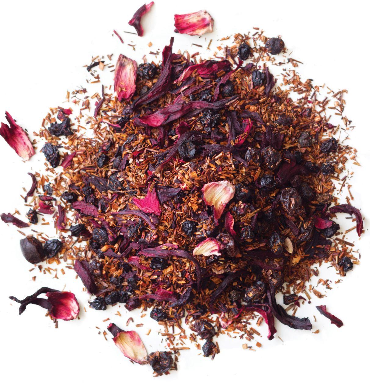 Blueberry Rooibos Organic Loose Leaf Tea Organic Blueberries