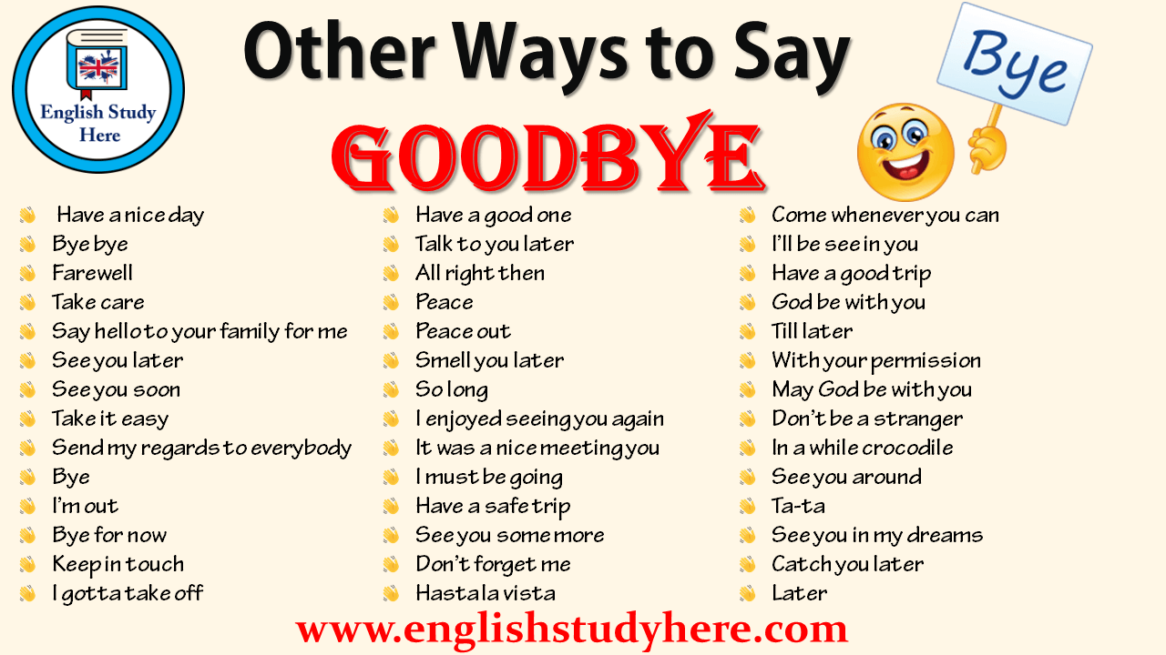 Other Ways to Say GOODBYE in English | Other ways to say