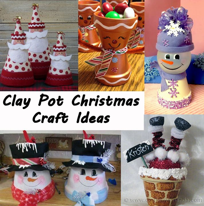 Most Popular Christmas Decorations On Pinterest To Pin: Clay-pot-christmas-craft-ideas