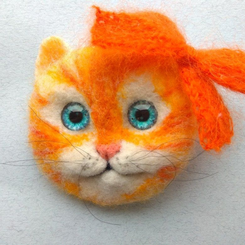 Needle felted cat brooch Needle felted cat, Animal pin