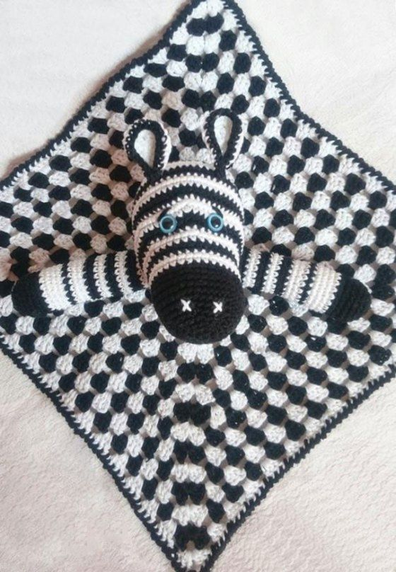 Zebra baby comforter crochet pattern | Pinterest