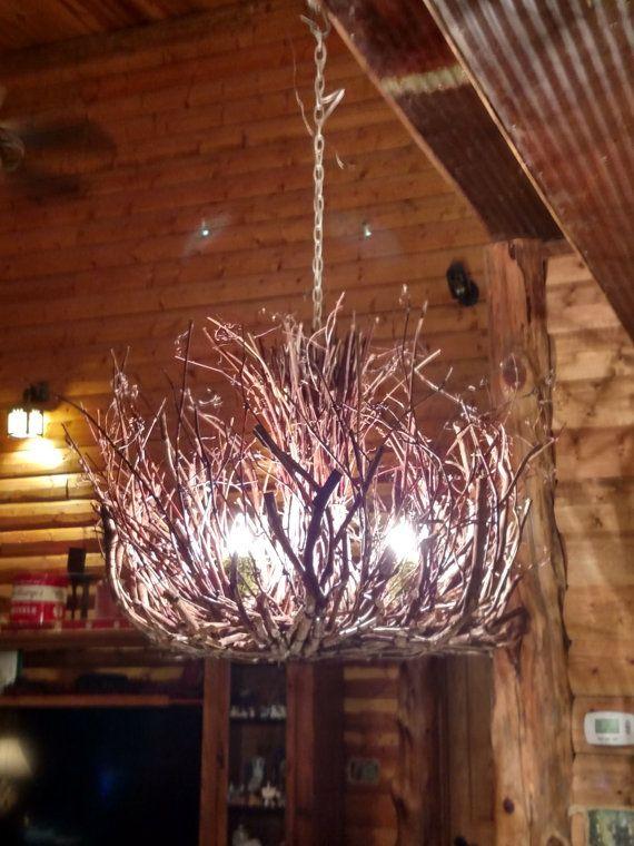 The Kinkaid - Rustic Chandelier Lighting - 3 Light - Twig ...