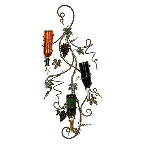 Woodland Imports D�cor Rustic Intricated Wall D�cor: Woodland Imports Donley 5 Bottle Design Wall Wine Rack