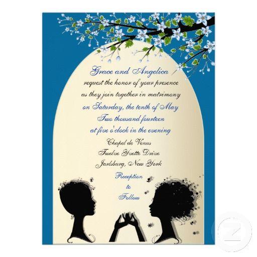 Sonata Custom Lesbian Wedding Invitations Lesbian, Weddings and - invitation non formal