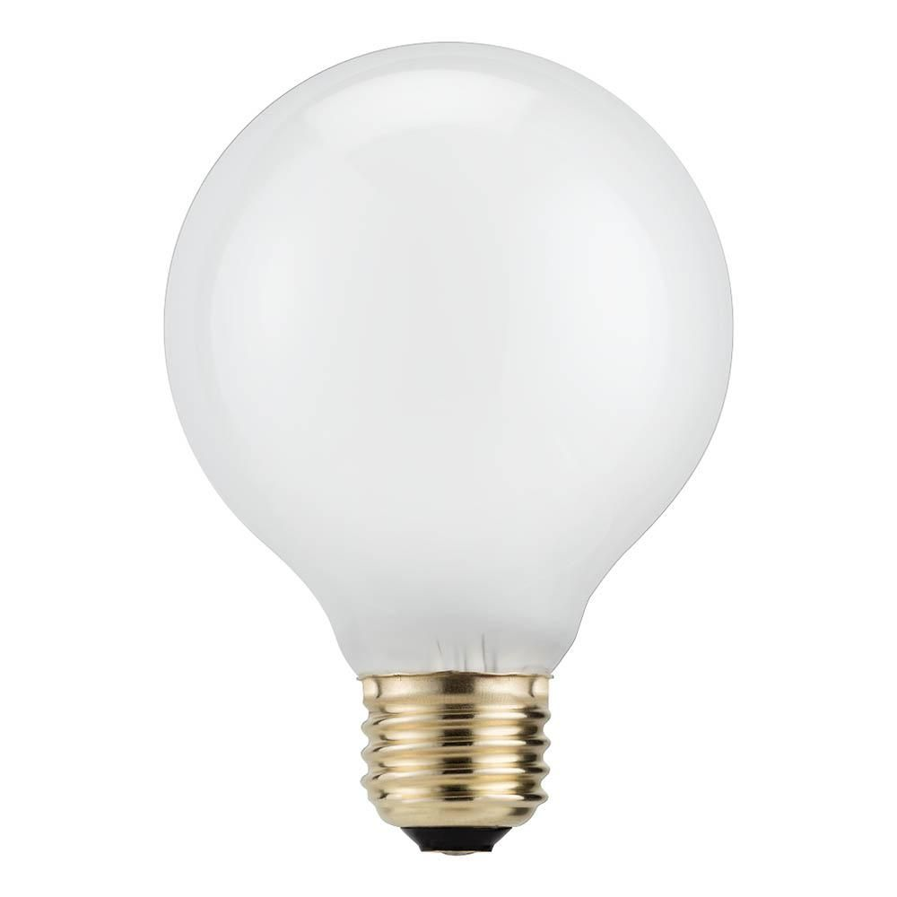 Philips 40W Equivalent Halogen G25 White Decorative Globe Light Bulb ...