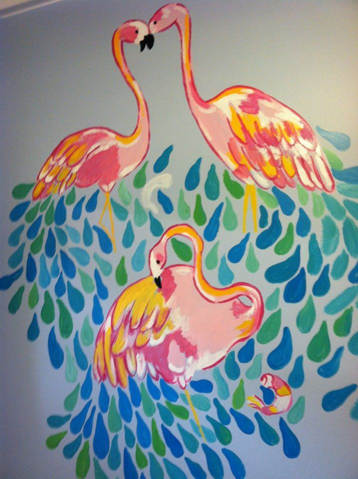 Lilly Pulitzer House another beach house mural--looks like lilly pulitzer peel n eat
