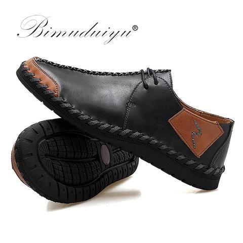 bimuduiyu brand fashion breathable shoes leather shoes