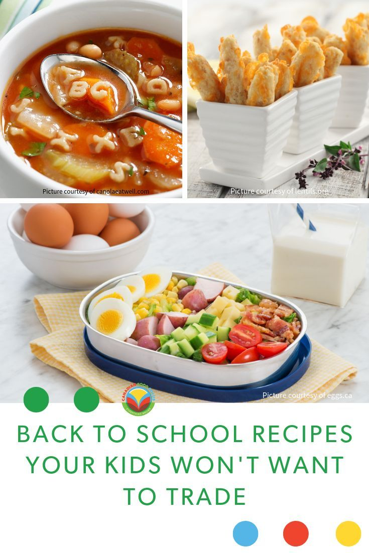 Recipes for Kids Lunches The countdown is over, it�s time for kids to head back to school, and to