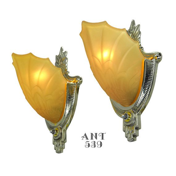 Art Deco Wall Sconces by Globe Lighting with Amber by DecoLighting ...
