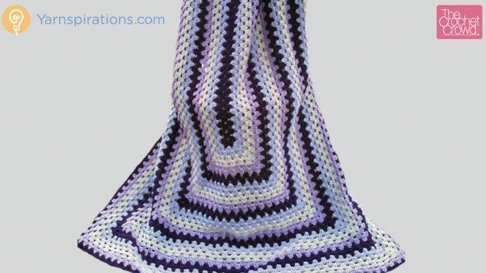 Crochet Granny Rectangle Afghan + Tutorial | Crochet | Pinterest