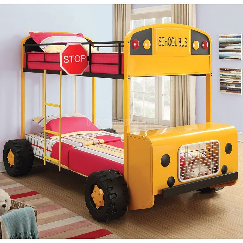 School Bus Bunk Bed Bunk Beds Kids Bedroom Designs Kid Beds