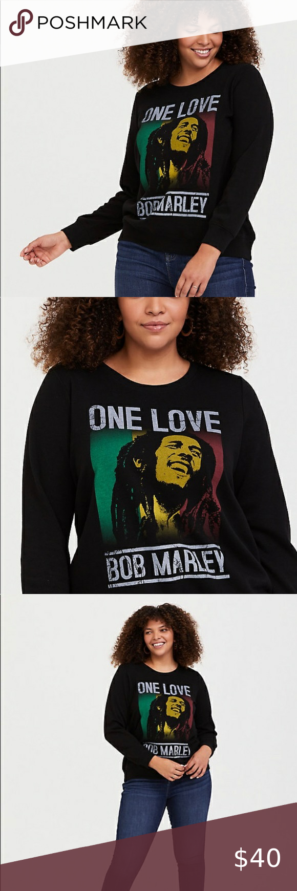 Torrid Bob Marley One Love Pullover Sweatshirt This Soft Vintage Inspired Bob Marley Pullover Sweatshirt Fea Pullover Sweatshirt Sweatshirts Sweatshirt Tops [ 1740 x 580 Pixel ]