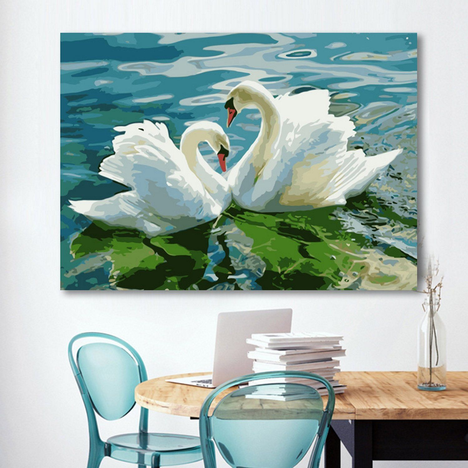 DIY Hand-painted Oil Painting By Numbers Wall Art Unframed Home Decor Diy Oil Paint by Number Kit Christmas Decor Decorations Gifts