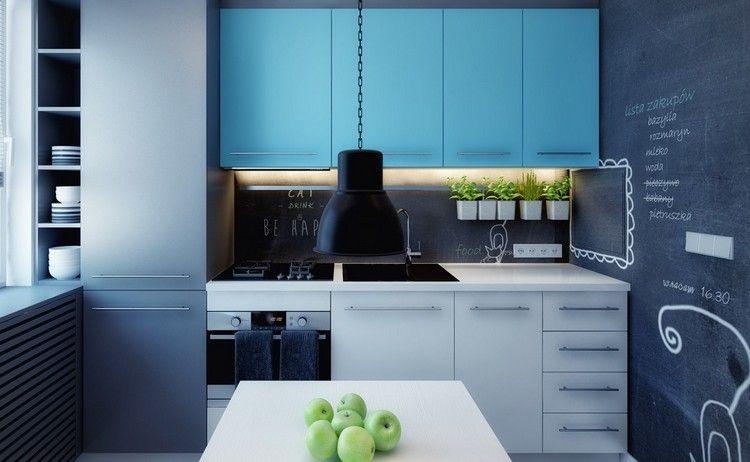 Tafelfarbe für Küchenrückwand und Led Unterbauleuchten Küche - unterbauleuchten led küche