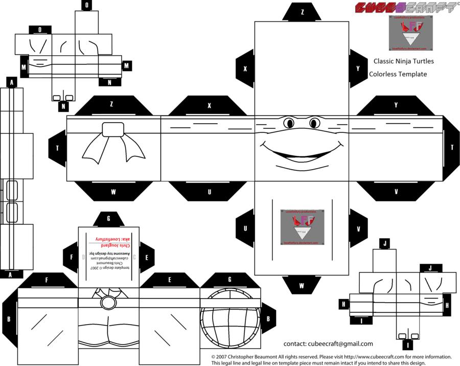 Clic Ninja Turtles Blank Cubee Template By Lovefistfury Deviantart On