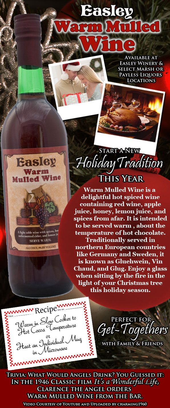 A Holiday Ad For Easley Warm Mulled Wine But As Long As There S A Chill In The Air Warm Mulled Wine Is At The Ready Spiced Wine Mulled Wine Mulled