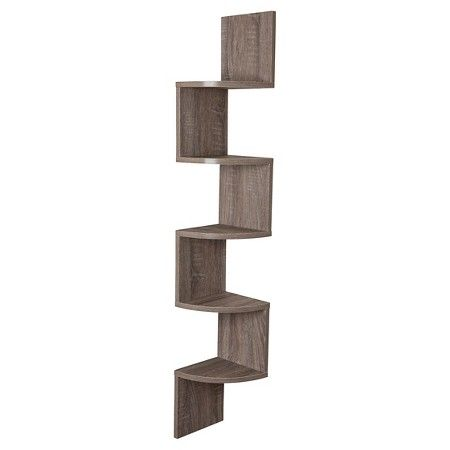 Zig Zag Corner Shelf Weathered Oak Corner Shelves Corner Wall