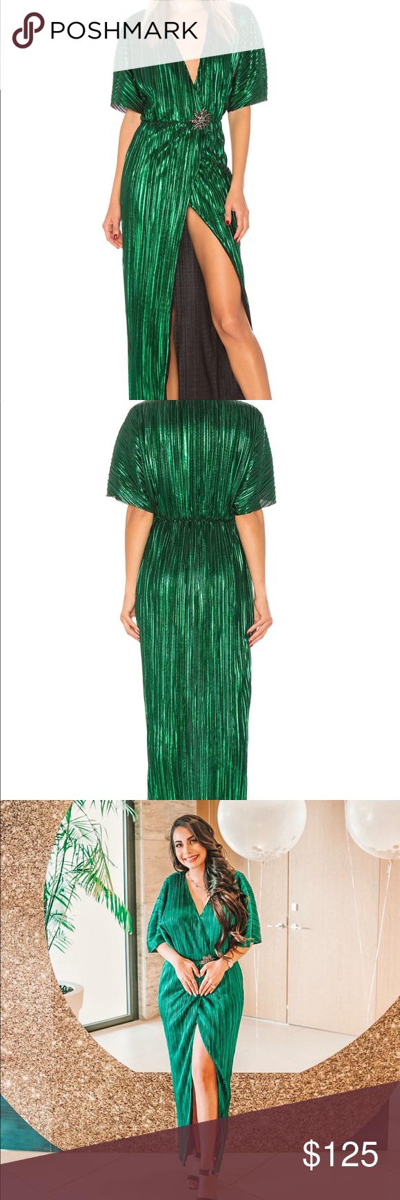 Green Metallic House Of Harlow Dress Dresses House Of Harlow 1960 Dress [ 1740 x 580 Pixel ]