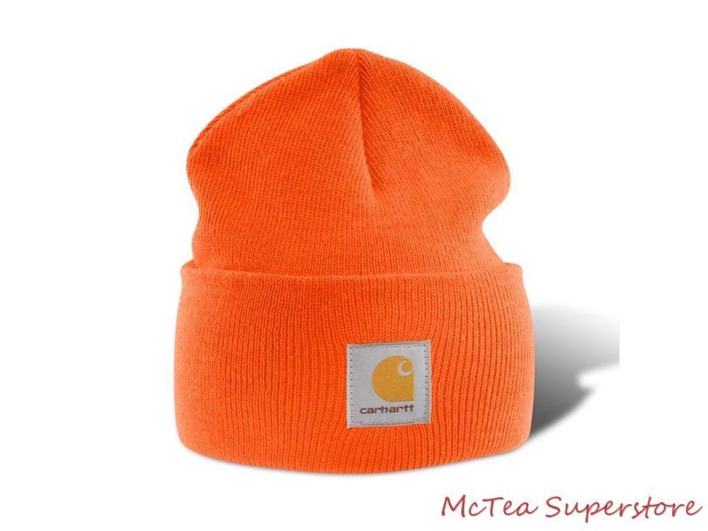 f9421bd70f2 Carhartt Mens Acrylic Watch Hat A18 Orange Beanie Cap -- Ready to Ship!   Carhartt  Beanie TRY  Carhartt.com OR Bassproshops.com