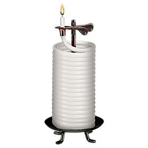 Eclipse Home Decor Candle By The Hour Vanilla Beeswax Candle With Vertical Stand Bass Pro