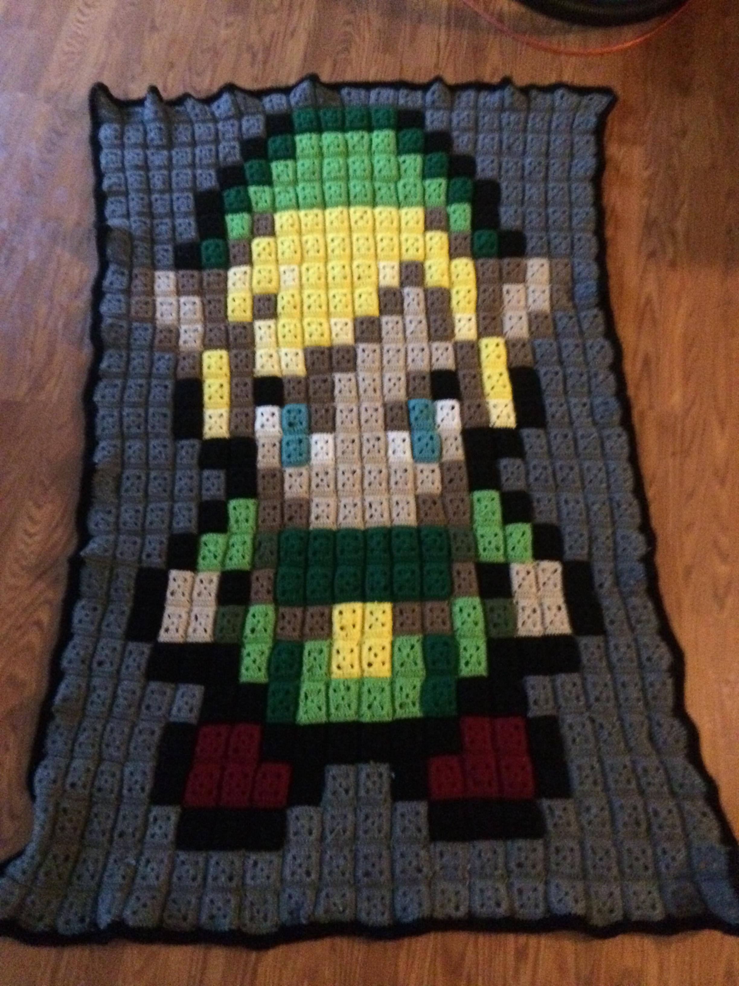 Zelda 8 bit blanket crochet and crochet blankets zelda 8 bit bankloansurffo Images