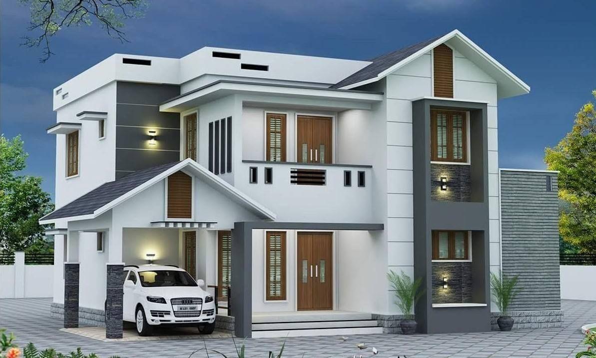 Casa Moderna De Dos Niveles House Front Design Bungalow House Design House Designs Exterior