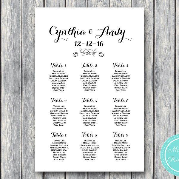 stylish-wedding-seating-chart-template-printable-wd09 Wedding - free printable seating chart