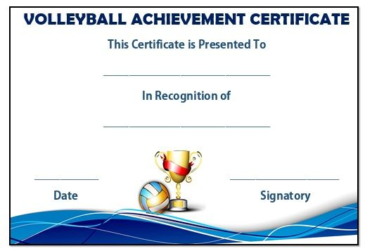 Volleyball achievement certificate volleyball certificates free free customizable printable certificates of achievement templates of certificates of achievement template customizable printable certificates certificate yelopaper Image collections
