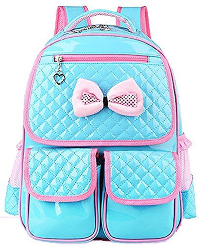 Toys for Girls - Gifts for 5 Year Old Girls - Cute Lace Bowknot Leather  Princess School Backpack 6d44d4f30138