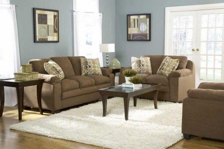 40 Lovely Brown Sofa Ideas For Living Room Decor Light Blue
