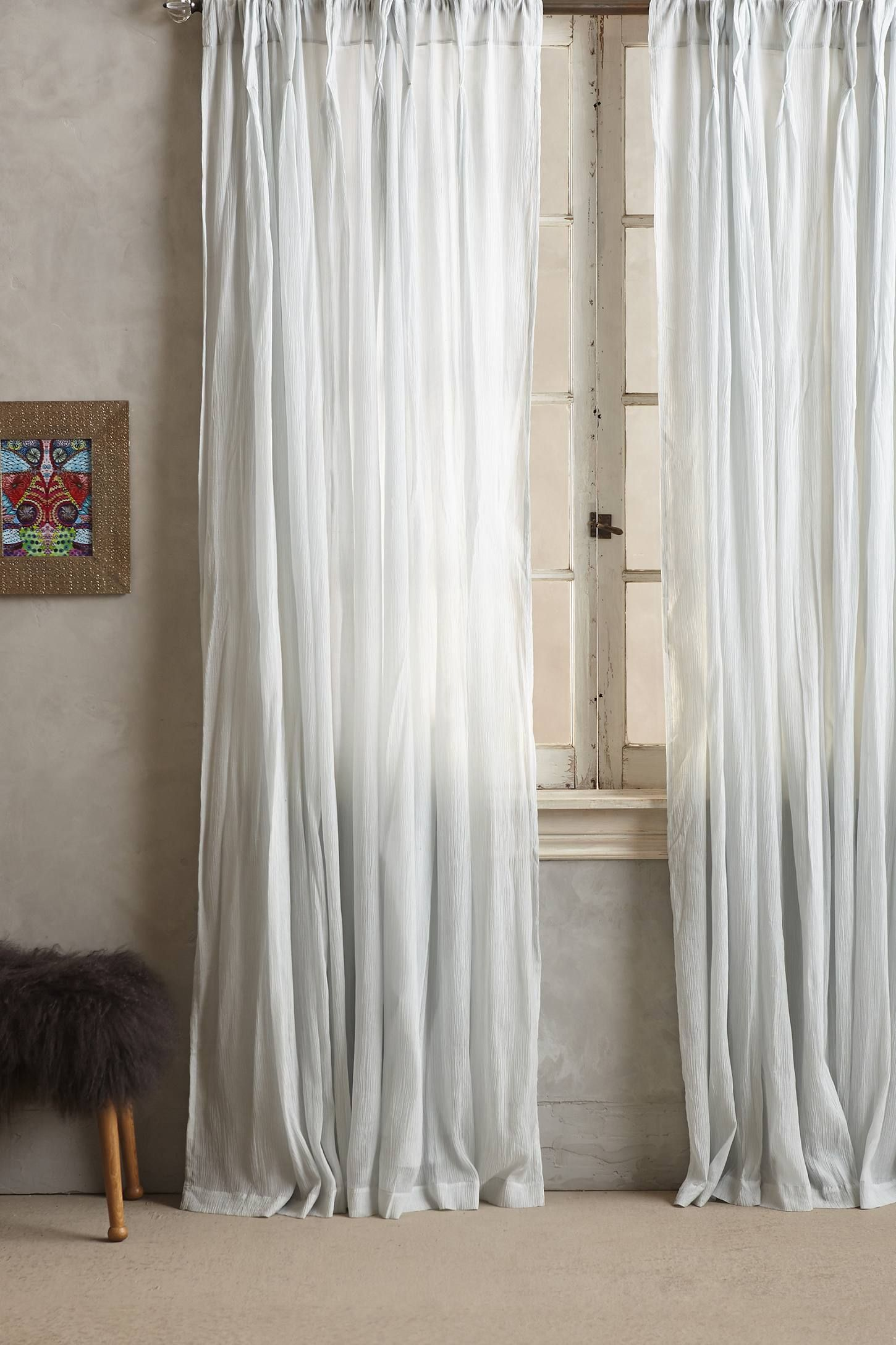 Orlaya Curtain | Anthropologie, Curtain inspiration and Pleated curtains