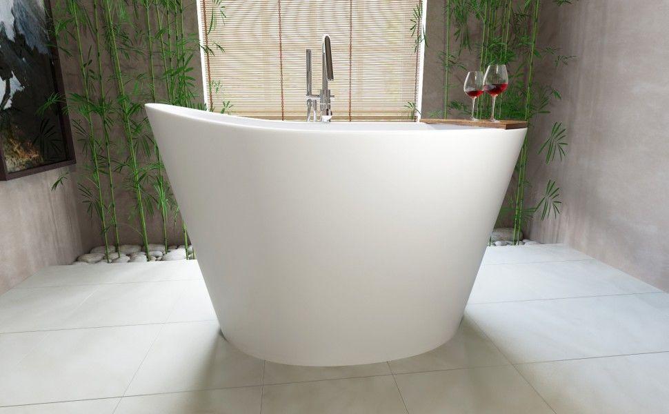 Aquatica True Ofuro Freestanding Stone Japanese Soaking Bathtub ...