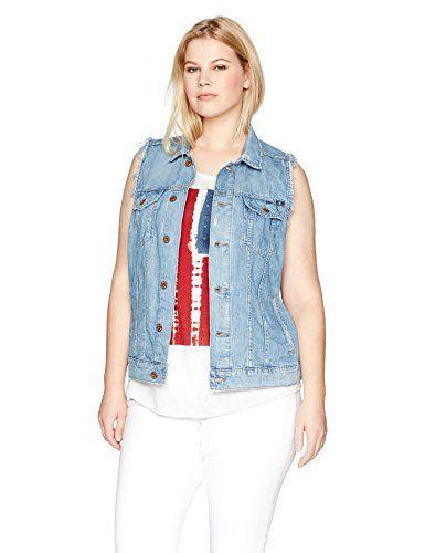 cf89e199dbf Lucky Brand Women s Plus Size Tomboy Trucker Vest