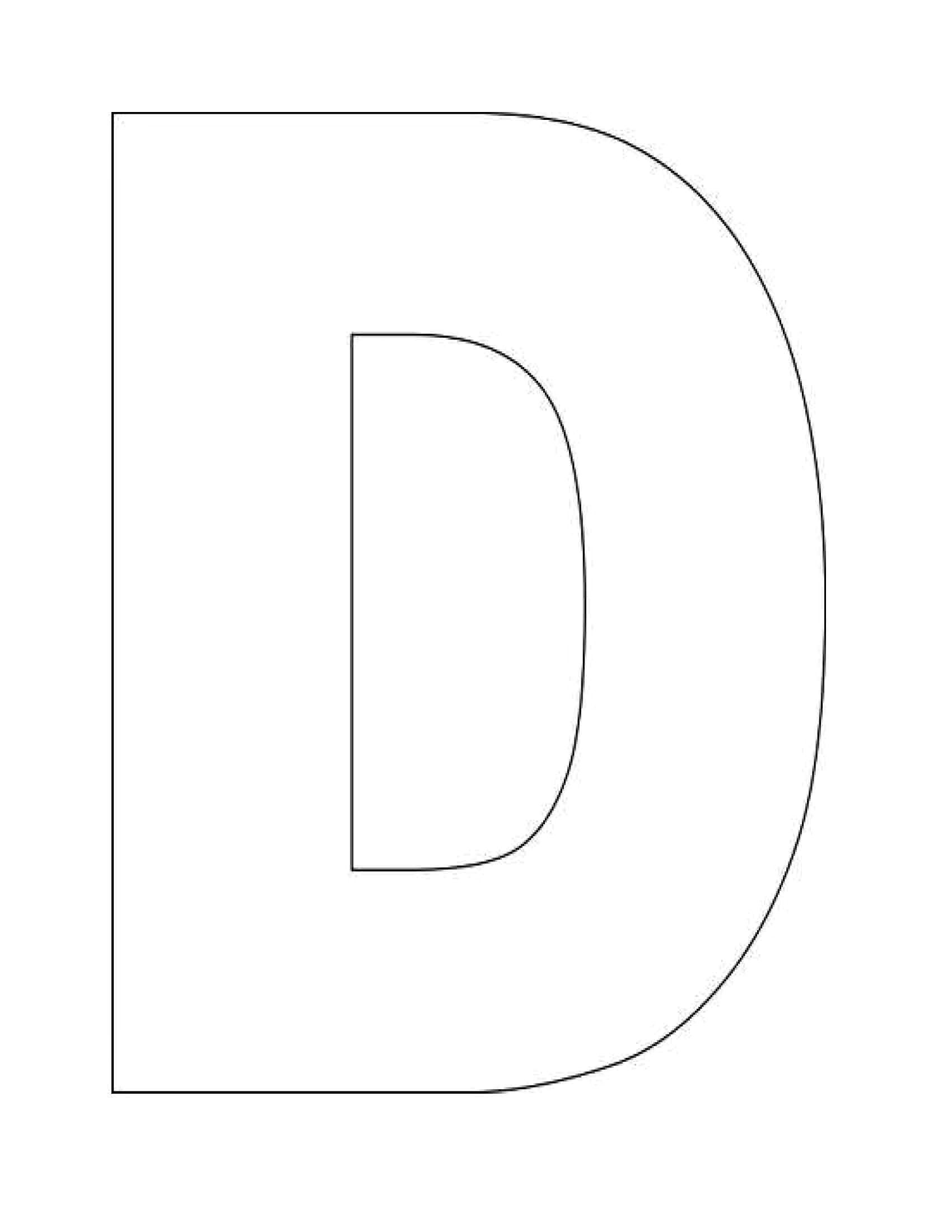 Here S A Simple Alphabet Letter D Template For Kids This