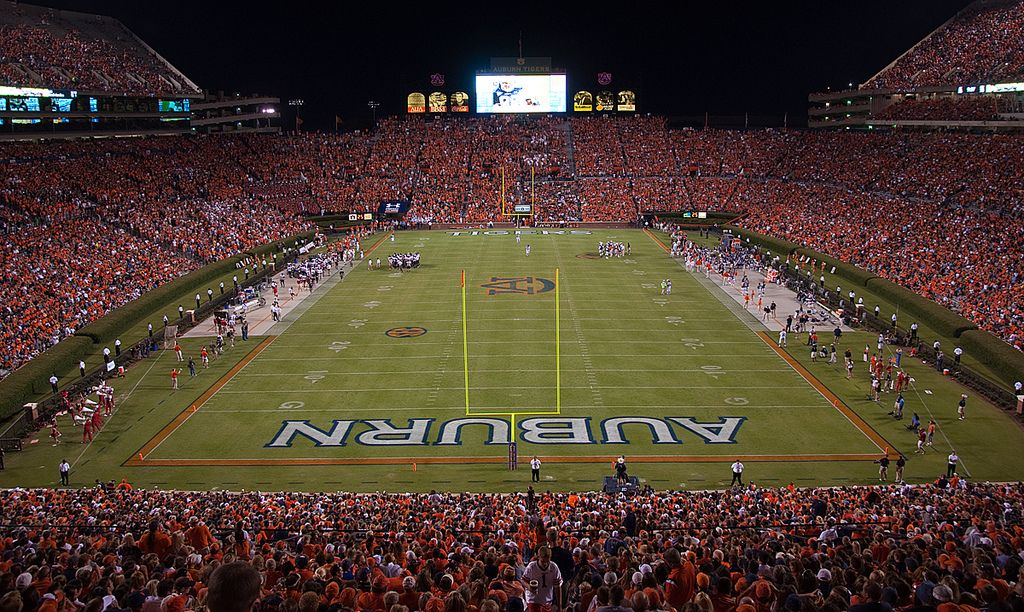 Jordan Hare Stadium In Auburn Auburn Tigers Football Auburn