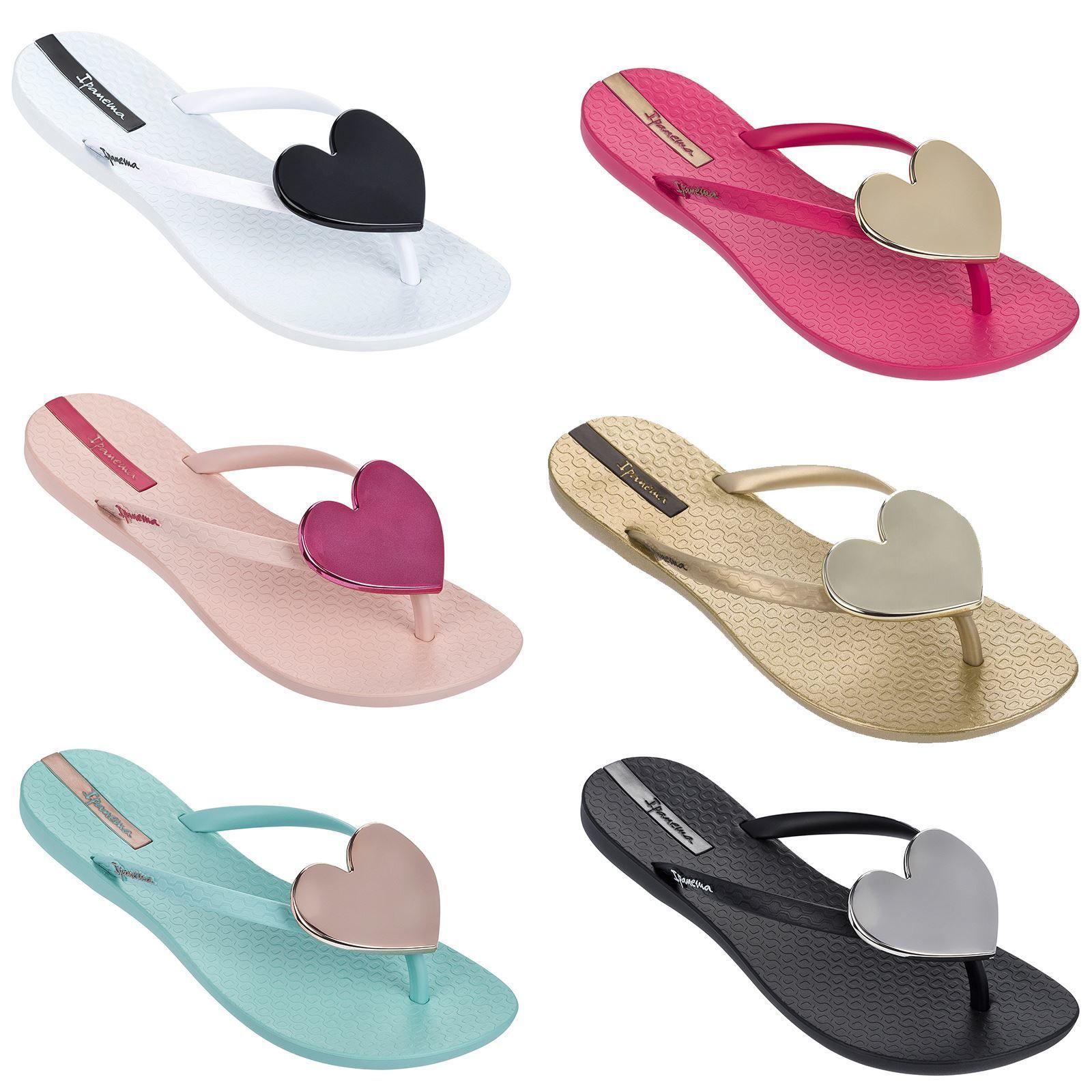 cfe942a387d Wave Maxi Heart Flip Flops Slim Footbed Beach Sandals beach  slipper footwear thongs