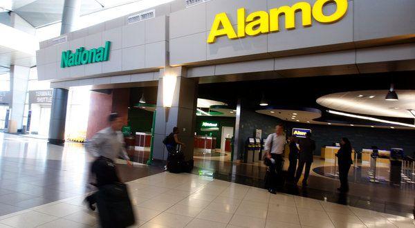 Alamo & National Car Hire Desks At Las Vegas Airport
