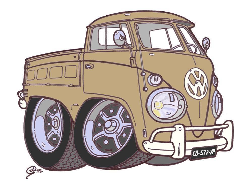 Dessin De Denis Guiton Car Cartoon Vw Art Automotive Artwork