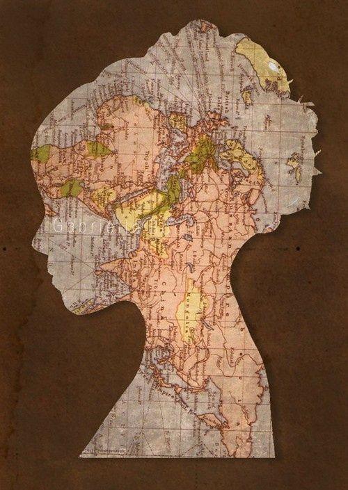 Diy Map Art Ideas For Map Lovers Diy Ideas Map Crafts Silhouette Art Map Art