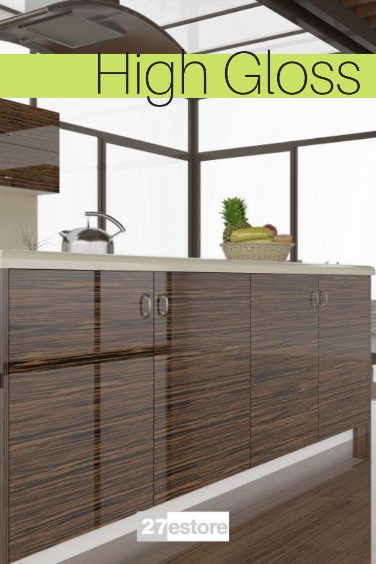 High Gloss Ebony Macassar Veneer In 2020 Wood Cabinet Doors Cabinet Doors High Gloss Kitchen Cabinets