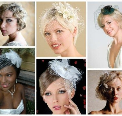 Short Wedding Hairstyles With Birdcage Veil | Hairstyles Ideas For ...