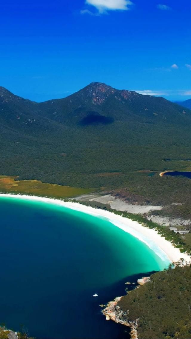 Freycinet National Park Wineglass Bay Beach Hobart Tasmania Australia Europe Geography