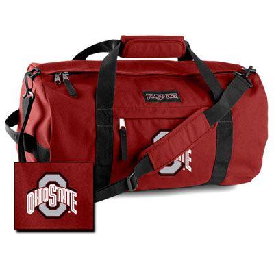 "Ohio State Buckeyes NCAA Embroidered Jansport 30"" Sport Duffel Bag"