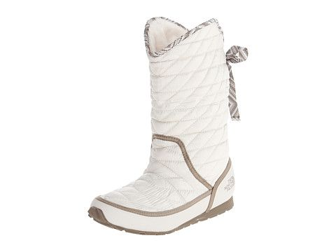 The North Face Thermoball Roll Down Bootie Ii Shiny Moonlight Ivory Classic Khaki